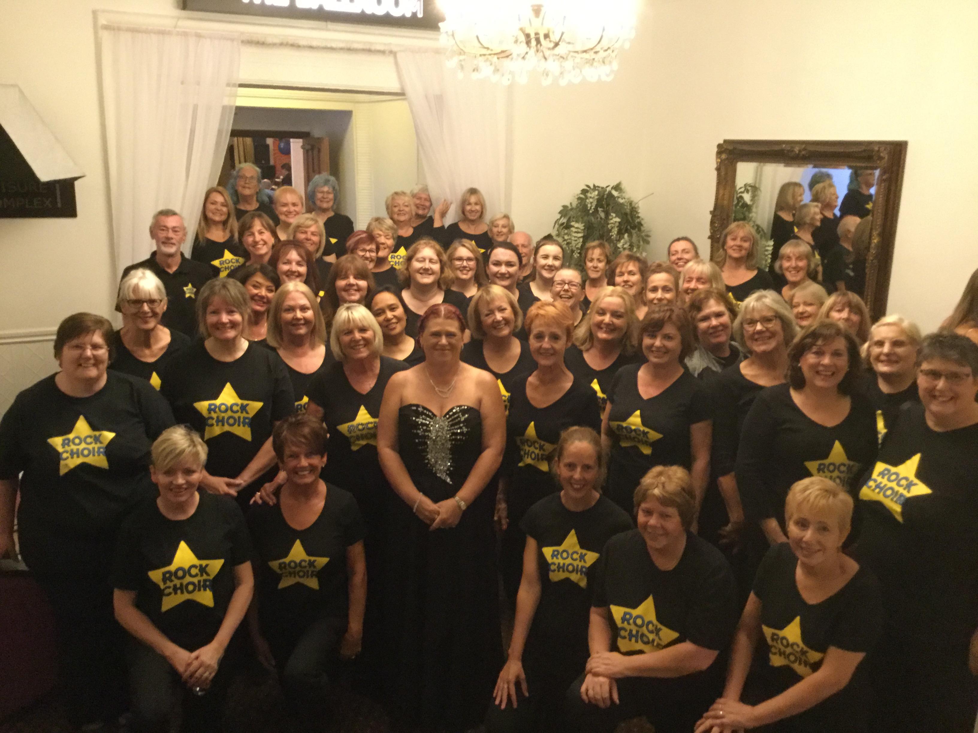 Rock Choir Flash Mob Stroke Association Charity Dinner!