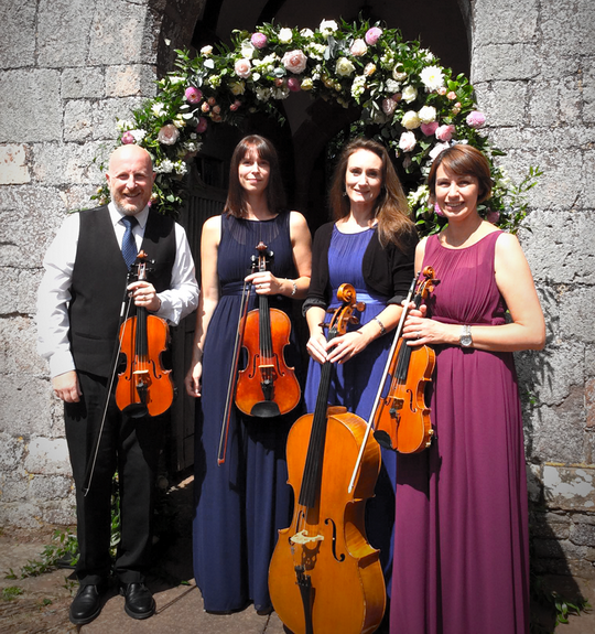 String Quartet Wedding.Richard Toomer Musician Devon Wedding String Quartet